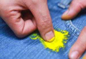 Пятна от масляных красок