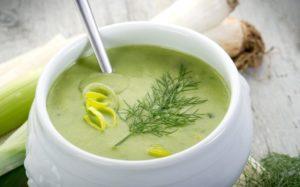 Суп-пюре из помидоров и корня сельдерея