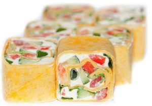 Тортилья с овощной начинкой