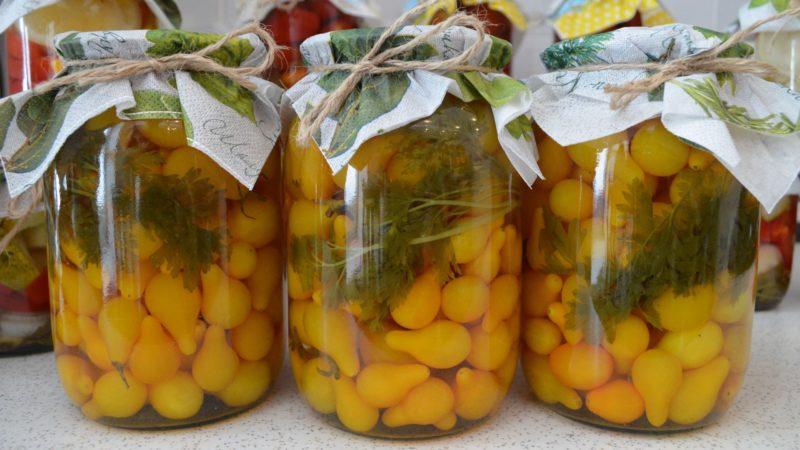 Как сохранить на зиму желтые томаты