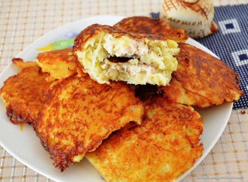 Картофельные колдуны с мясным фаршем — блюдо белорусской кухни