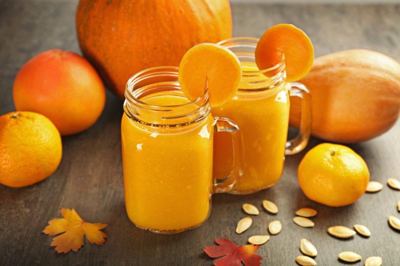Тыквенно-апельсиновый сок с оригинальными добавками: доступные рецепты