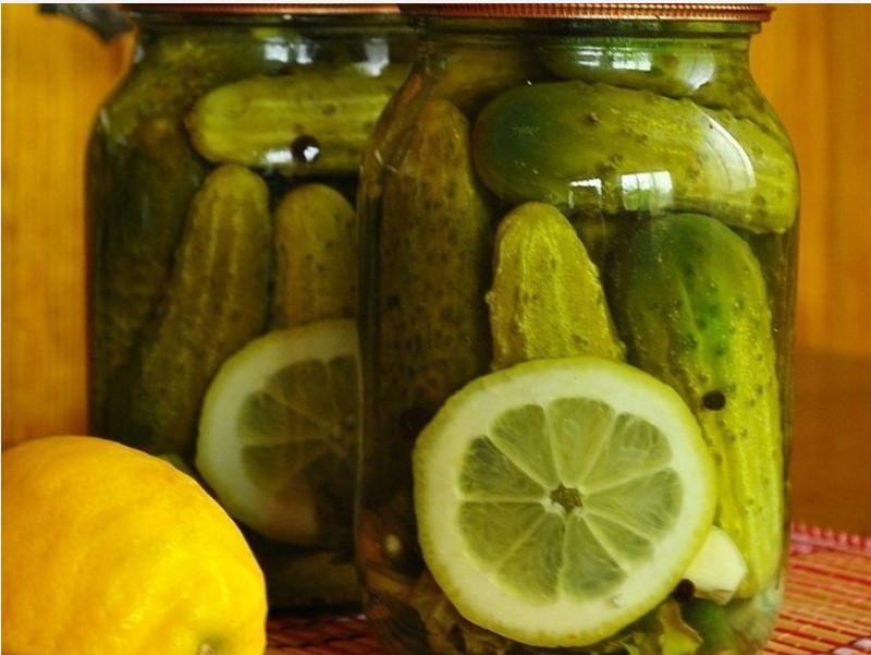 Консервированные огурцы с лимонной кислотой