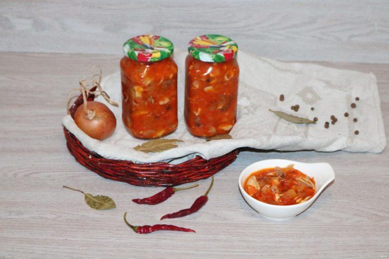 Домашняя консерва — скумбрия с овощами