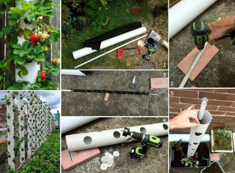 ПВХ трубы — способы применения на даче